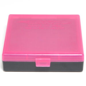 Berrys Ammo Box 10mm/45Acp Snap Hinged 100 Pink/Black 50/Cs