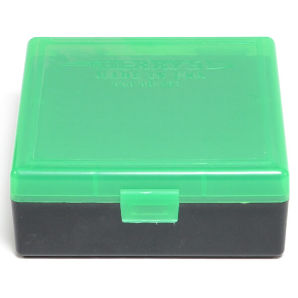 Berrys Box 38/357 Snap Hinged 100 Rounds #003 Zombie Green/Black