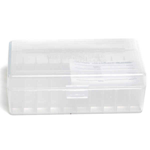 Berrys Box 44 Spl/Mag Hinged Top 50 Rounds Clear