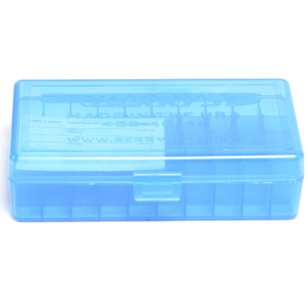 Berrys Box 10mm/45 Acp Hinged Top 50 Rounds Blue
