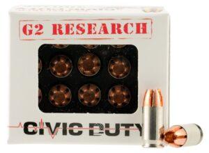 G2 Research 380 ACP 64 Gr Civic Duty Ammunition (20)