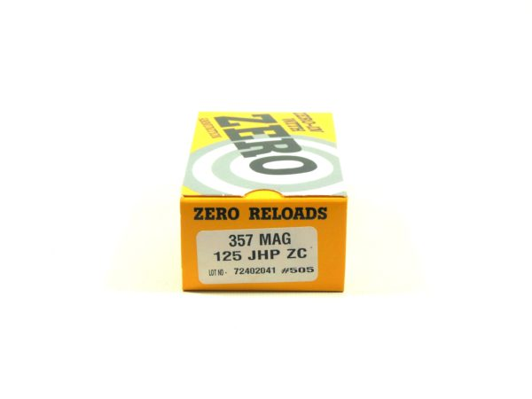 Zero Reload 357 125 Grain Jacketed Hollow Point (50)