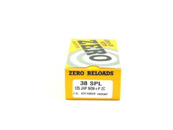 Zero Reload 38 Special 125 Grain Jacketed Hollow Point (50)