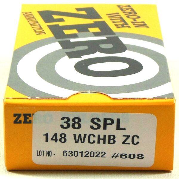 Zero Reload 38 Special 148 Grain Wadcutter Hollow Base (50)
