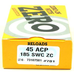 Zero Reload 45 185 Grain Semi-Wadcutter (50)