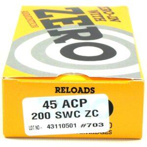 Zero Reload 45 200 Grain Semi-Wadcutter (50)