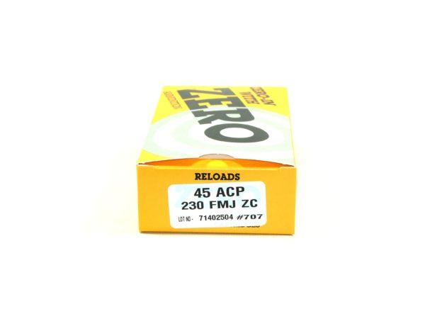 Zero Reload 45 230 Grain Full Metal Jacket (50)