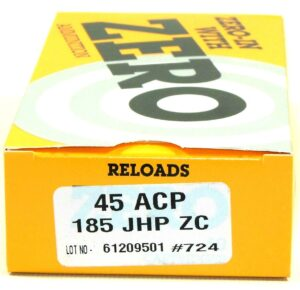 Zero Reload 45 185 Grain Jacketed Hollow Point (50)