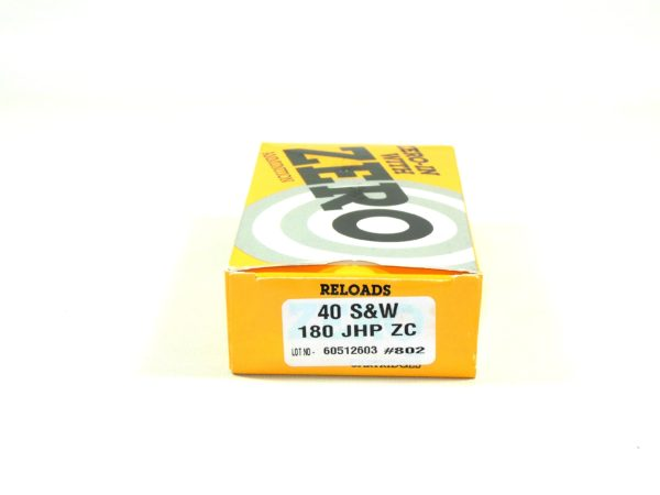 Zero Reload 40 180 Grain Jacketed Hollow Point (50)