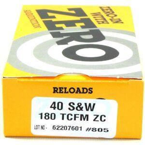 Zero Reload 40 180 Grain Truncated Cone Full Metal (50)