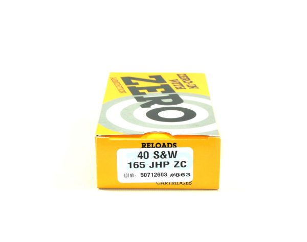 Zero Reload 40 165 Grain Jacketed Hollow Point (50)