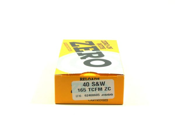 Zero Reload 40 165 Grain Truncated Cone Full Metal (50)