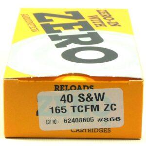 Zero Reload 40 165 Grain Truncated Cone Full Metal (50)