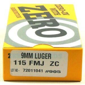 Zero Reload 9mm 115 Grain Full Metal Jacket (50)