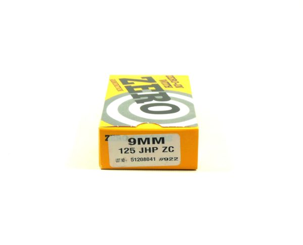 Zero Reload 9mm 125 Grain Jacketed Hollow Point (50)