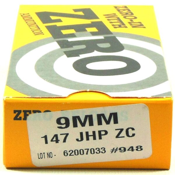 Zero Reload 9mm 147 Grain Jacketed Hollow Point (50)