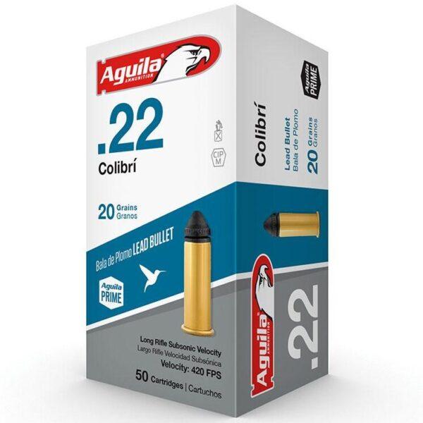 Aguila 22 LR 20 Gr Colibri Quiet POWDERLESS NOT FOR SEMI AUTO (50)