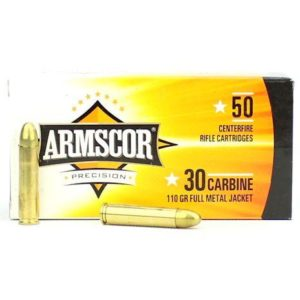Armscor USA 30 Carbine 110 Gr Brass FMJ (50)