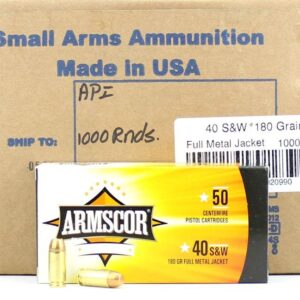 Armscor USA 40 S&W 180 Gr FMJ (50)