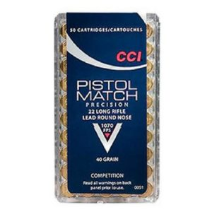 CCI 22 LR 40 Gr RN Pistol Match (50)
