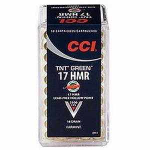 CCI 17 HMR 16 Gr TNT Green Lead Free HP (50)