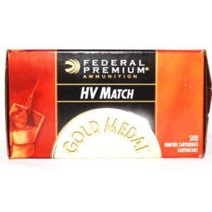 Federal 22 LR 40 Grain Lead RN Gold Medal HV Match (50)