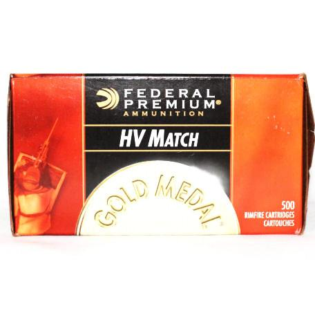 Federal 22 LR 40 Grain Lead RN Gold Medal HV Match (50)