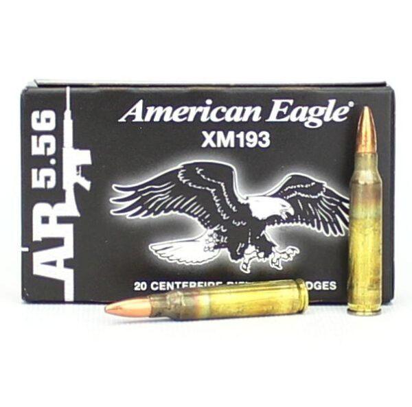 Federal 5.56 55 Gr. FMJ XM193 American Eagle (20)