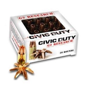 G2 Research 45 ACP 169 Gr Civic Duty Ammunition (20)