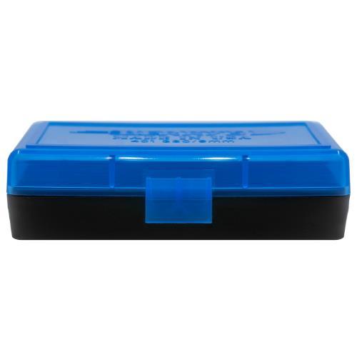 Berrys Ammo Box 380/9mm Hinged Top 50 #401 Blue 50/Cs
