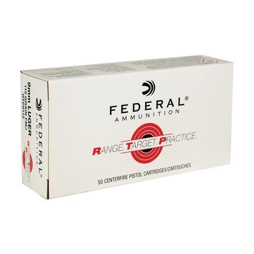 Federal 9MM 115 Gr FMJ RTP (50)