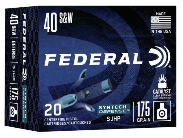 Federal 40 S&W 175 Gr SHP American Eagle SYNTECH Defense (20)