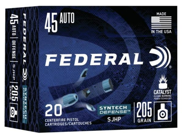 Federal 45 ACP 205 Gr SHP American Eagle SYNTECH Defense (20)