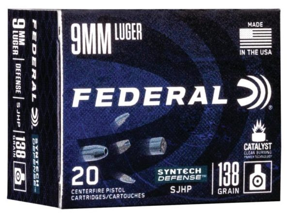 Federal 9MM 138 Gr SHP American Eagle SYNTECH Defense (20)