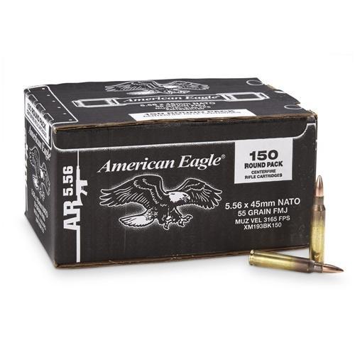Federal 5.56 55 Gr. FMJ XM193 American Eagle (150)