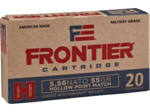 Frontier 5.56 Nato 55 Gr Hornady Hollow Point Match (20)
