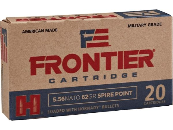Frontier 5.56 Nato 62 Gr Hornady Soft Point (20)