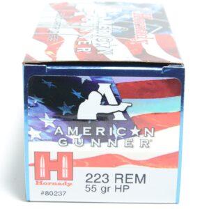 Hornady 223 Rem 55 Grain Hollow Point American Gunner (50)