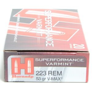 Hornady 223 Rem 53 Grain V-MAX Superformance (20)