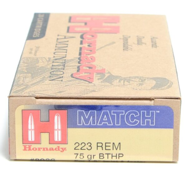 Hornady 223 Rem 75 Grain Hollow Point Boat Tail Match (20)