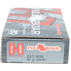 Hornady 243 Win 80 Grain GMX (MonoFlex) Full Boar (20)