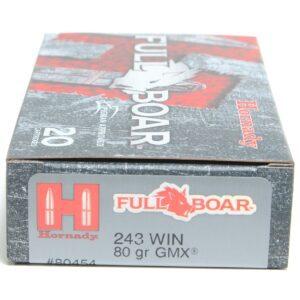 Hornady 243 Win 80 Grain GMX (MonoFlex) Full Boar (20)