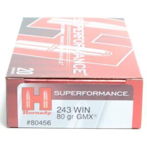 Hornady 243 Win 80 Grain GMX (MonoFlex) Superformance (20)