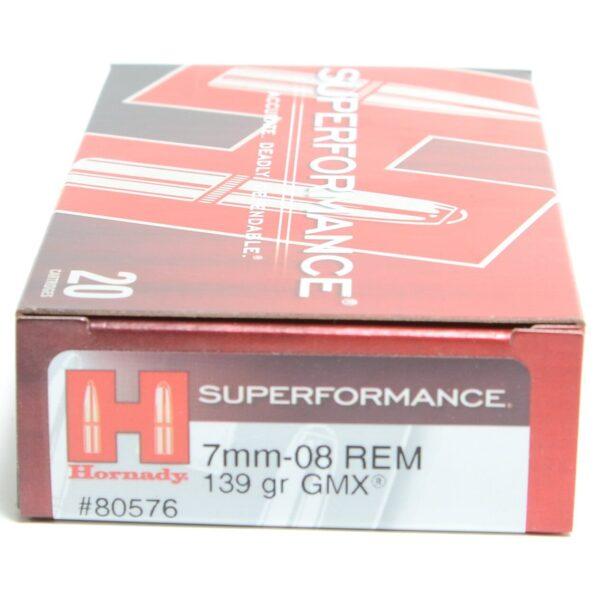 Hornady 7mm-08 Rem 139 Grain GMX (MonoFlex) Superformance (20)