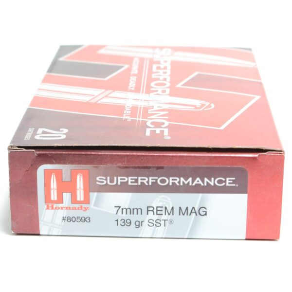 Hornady 7mm Rem Mag 139 Grain SST (Super Shock Tip) Superformance (20)