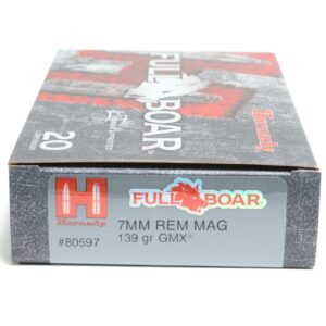 Hornady 7mm Rem Mag 139 Grain GMX (MonoFlex) Full Boar (20)