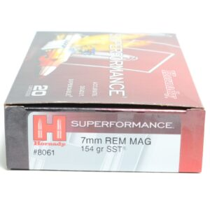 Hornady 7mm Rem Mag 154 Grain SST (Super Shock Tip) Superformance (20)