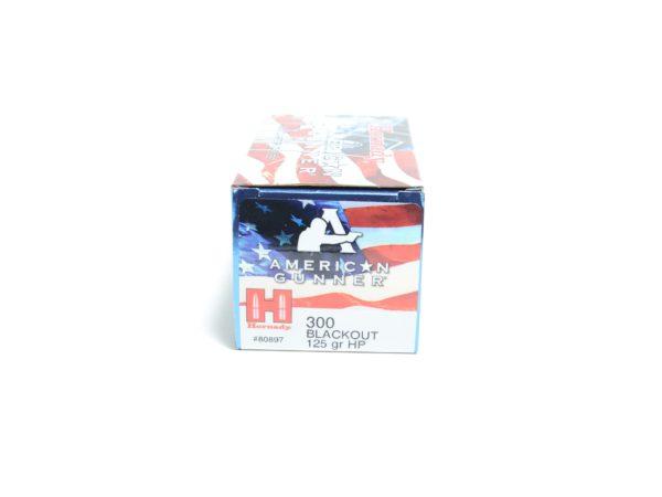 Hornady 300 Blackout 125 Grain Hollow Point American Gunner (50)