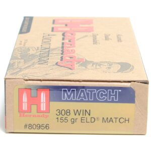 Hornady 308 Win 155 Grain ELD-M (Extremly Low Drag) Match (20)