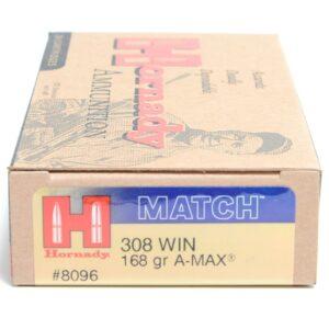 Hornady 308 Win 168 Grain A-MAX (20)